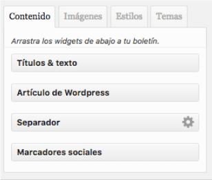Openmailer - crear newsletter