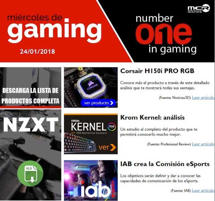 Ya tienes disponible la news de Gaming de MCR