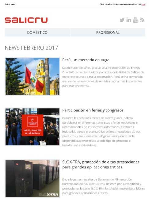 Salicru News Febrero 2017