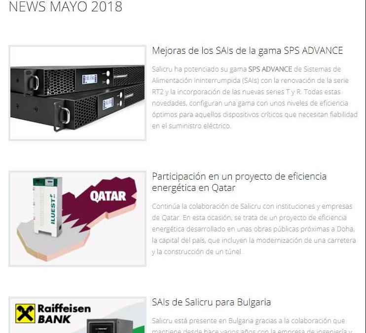 Salicru News Mayo 2018