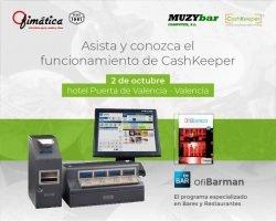 presentacion cashkeeper de la mano de muzybar y ofimatica