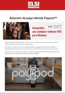 Estación de pago híbrida Paypod
