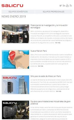 Salicru News Enero 2019