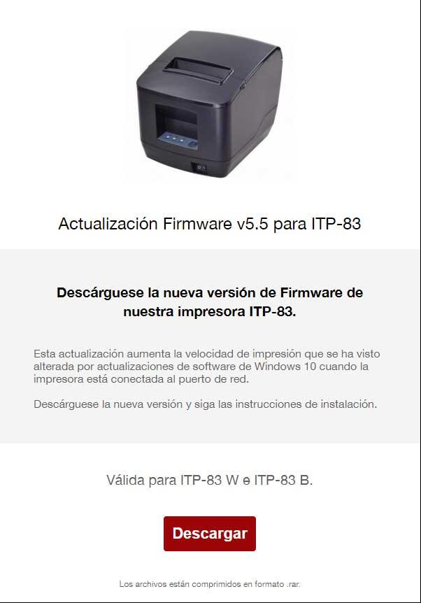 Actualización Firmware v5.5 para ITP-83