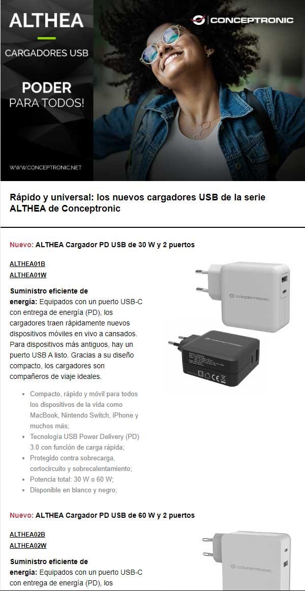 cargadores USB C